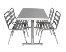 Stainless Steel Chair and Table